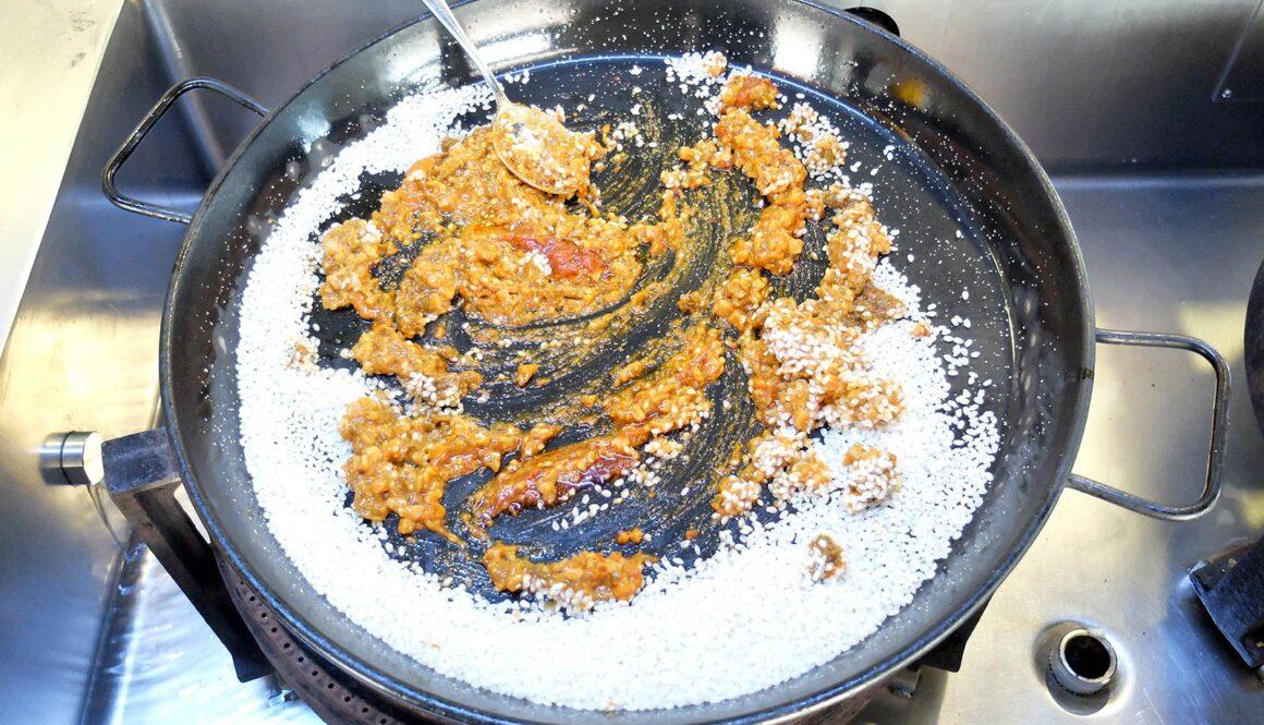 Paella med knurhane - opskrift.