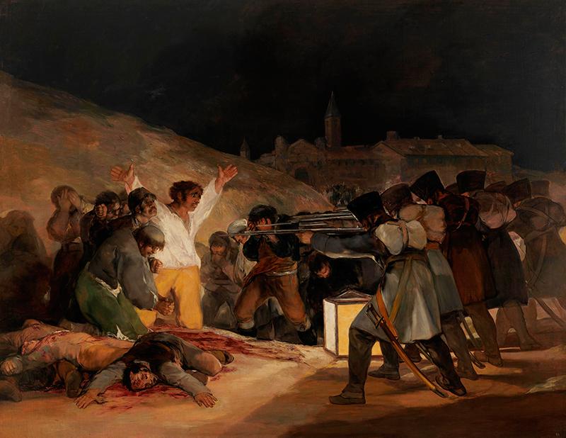 Den 3. maj af Francisco de Goya - Prado-museet i Madrid.   Foto: © Museo Nacional del Prado