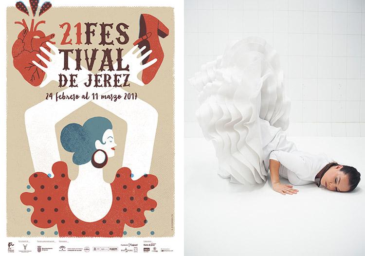 Festival de Jerez-plakaten 2017 og danseren Rocio Molina Foto: PR