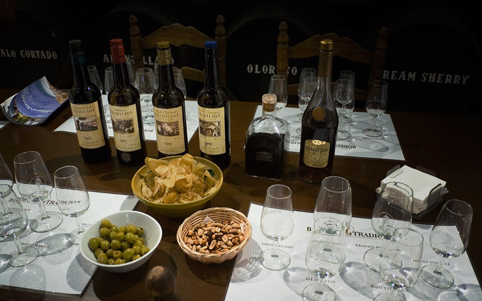 Tag til sherrysmagning i Jerez
