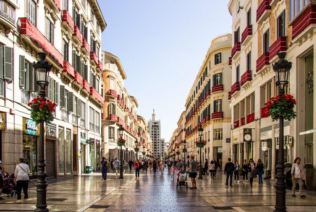 Guide Málaga: Málagas hovedstrøg Calle Marques de Larios