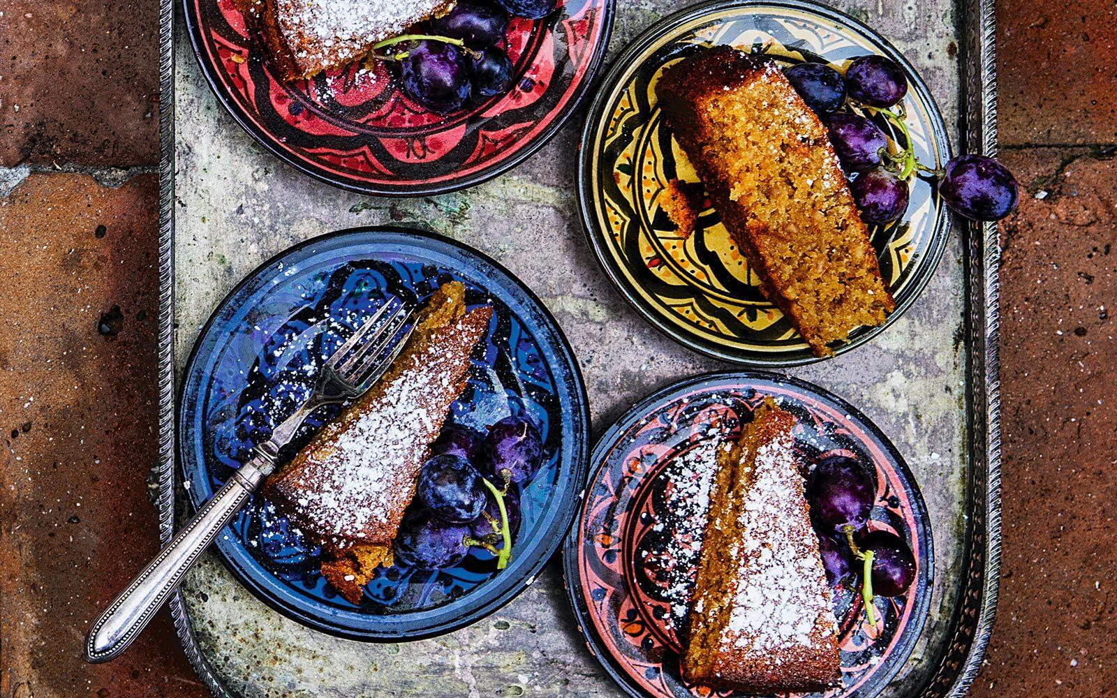 Opskrift på mazarinkage med hjemmelavet marcipan - spansk kage
