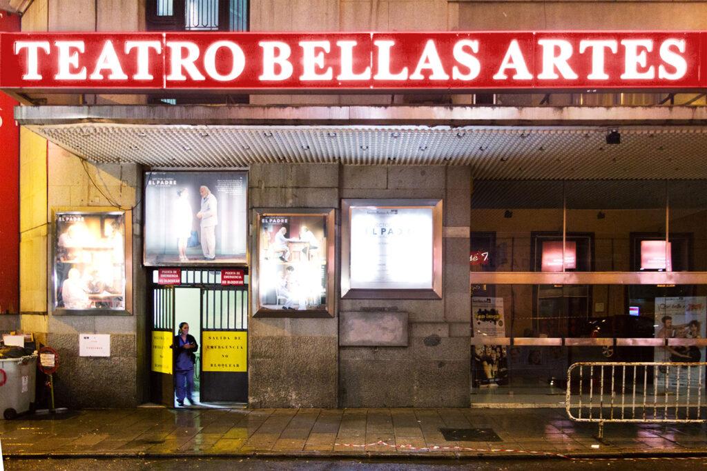 Teatro Bellas Artes i Madrid, hvor scenen fra Alt om min mor er optaget