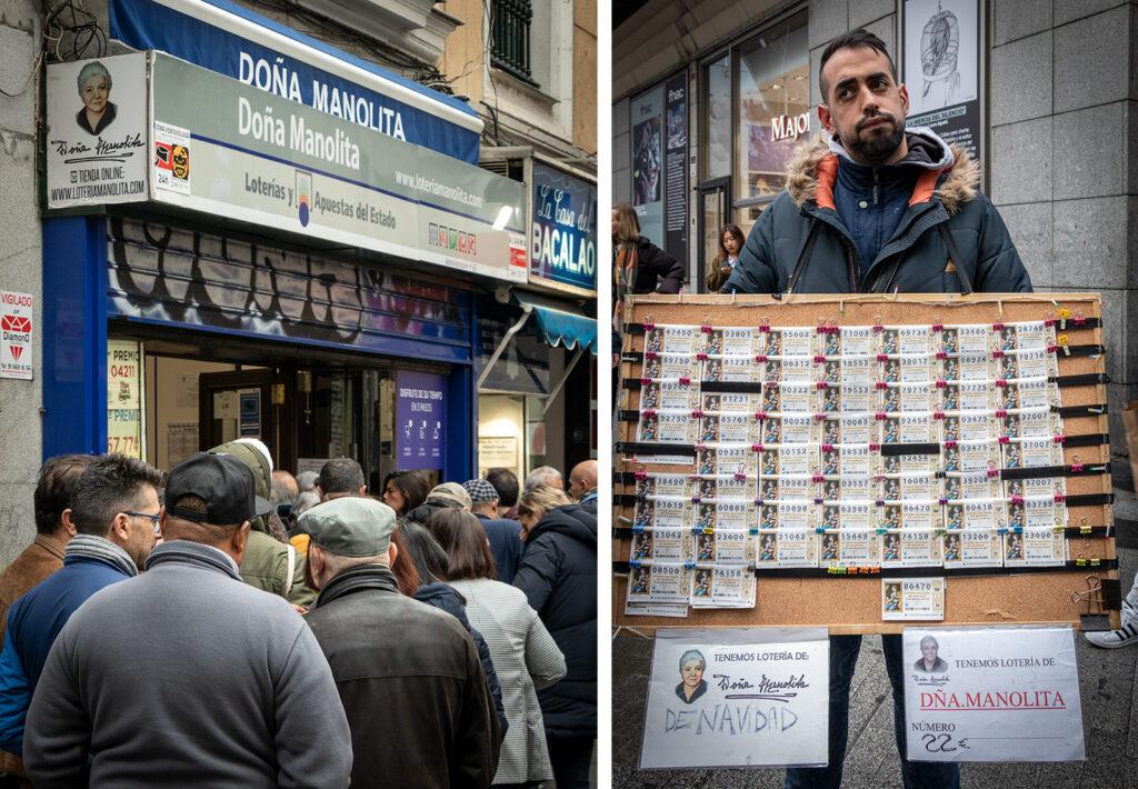 Jul i Madrid: Lotterikuponerne til det store julelotteri skal købes hos Doña Manolita i Madrid.