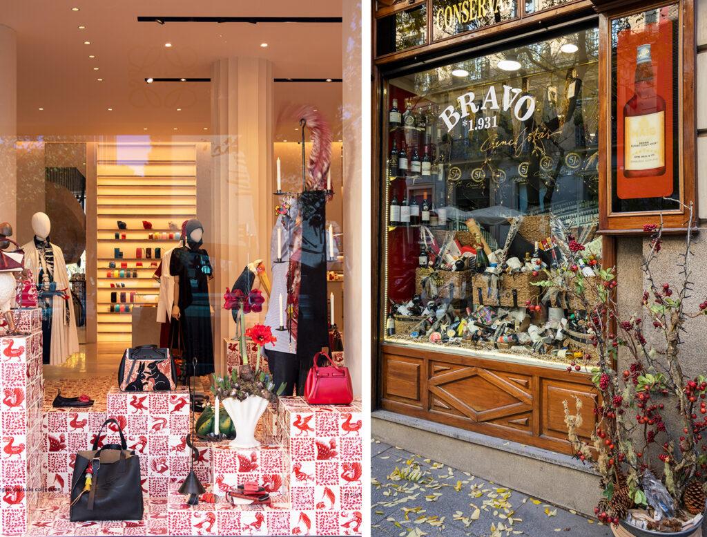 Butikkerne i Madrids Salamanca-kvarter er smukt julepyntede