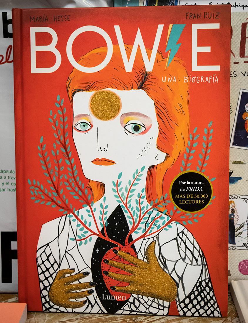 Shop Bowie-bog i kunstnerkvarteret i Bilbao