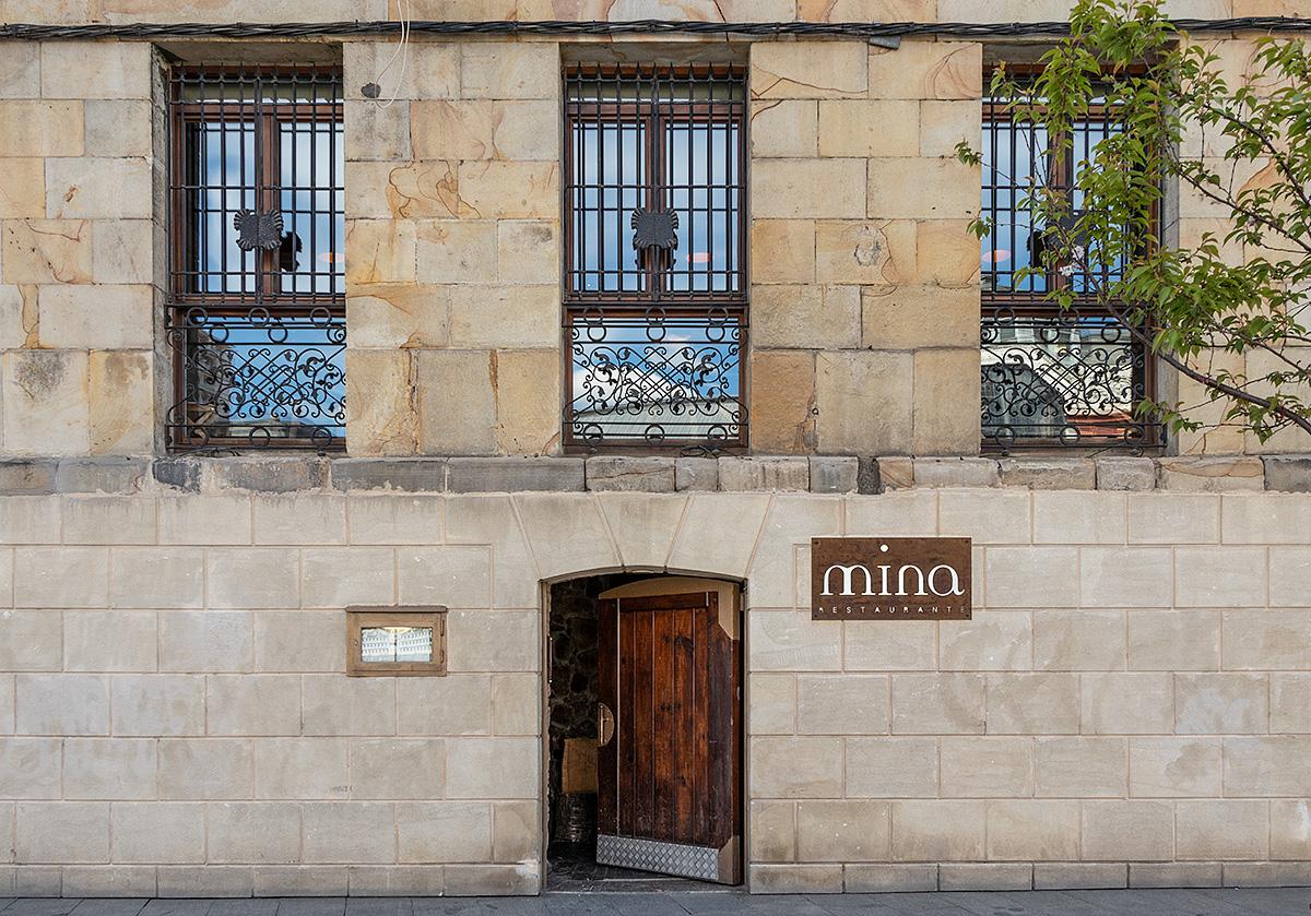 Spis Michelin-mad på restauranten Mina i Bilbaos kunstnerkvarter La Vieja.