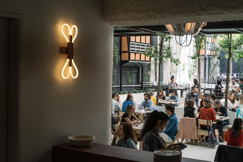 Restaurant MO de Movimiento i Madrid er helt igennem et bæredygtigt projekt - fra design til mad.
