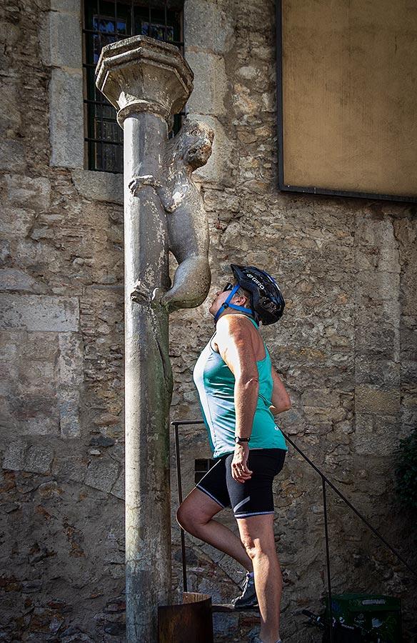 Kys Gironas statue Lleona de Girona i bagdelen, så ved du, at du vender tilbage til byen igen.