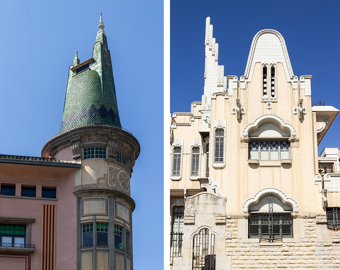 Se en række af Rafael Masós arkitekoniske værker i Girona.