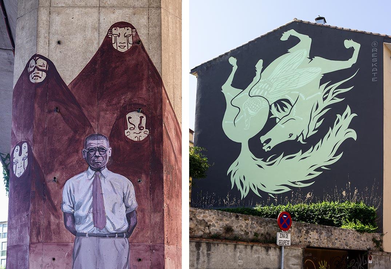 Der kommer hele tiden ny og spændende gadekunst på husmurene i Girona.