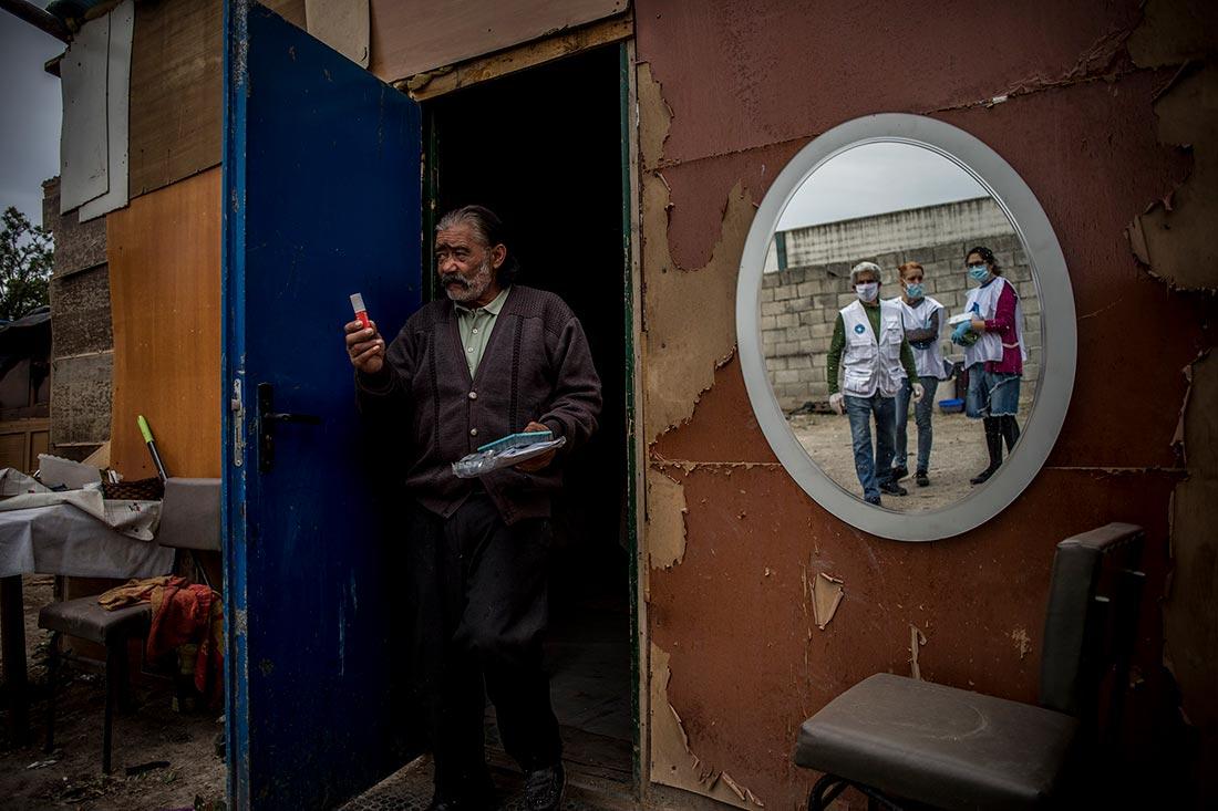 De udsatte under usle kår under nedlukningen i Spanien. Foto: Javier Fergo