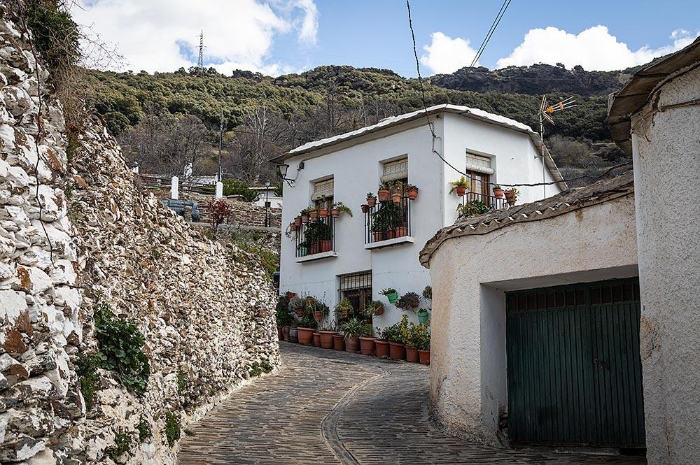 Typiske huse i Bubión Alpujarra.