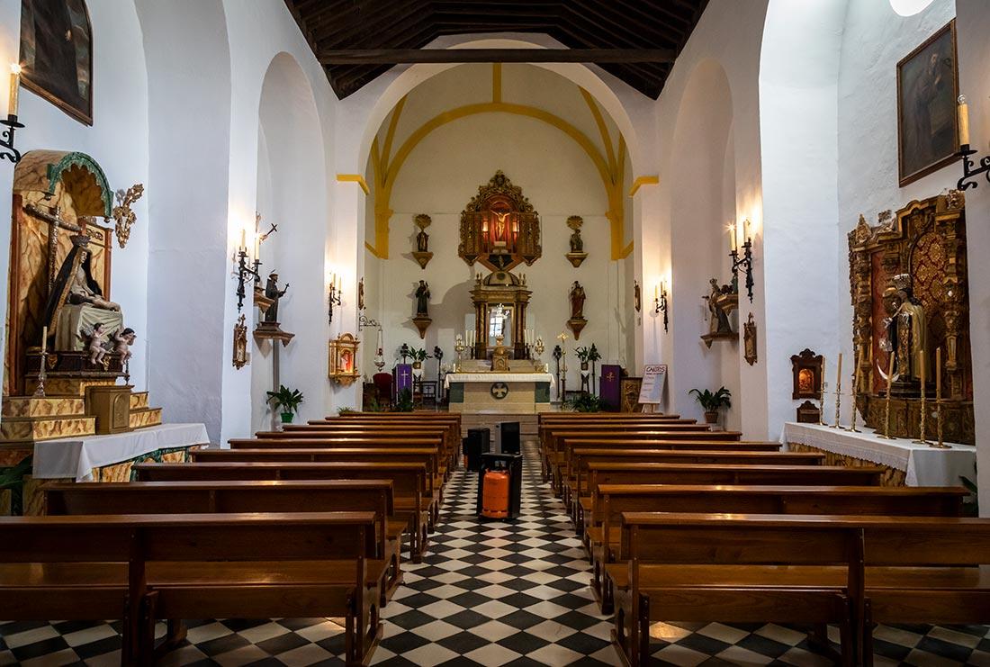 Kirken i Capileira i Alpujarra.