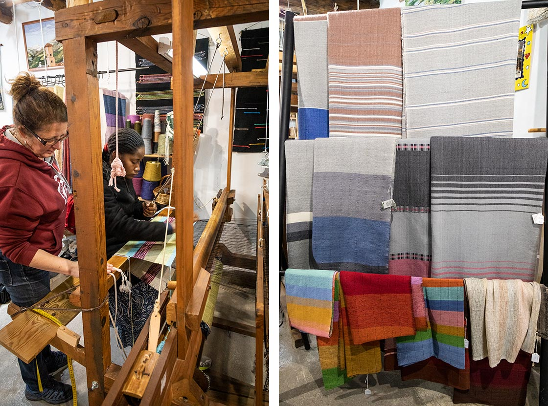 Lær at væve uld hos en af de mange kunsthåndværkere i Pampaneira.