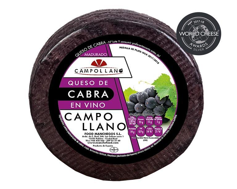 Spansk gedeost med rødvin