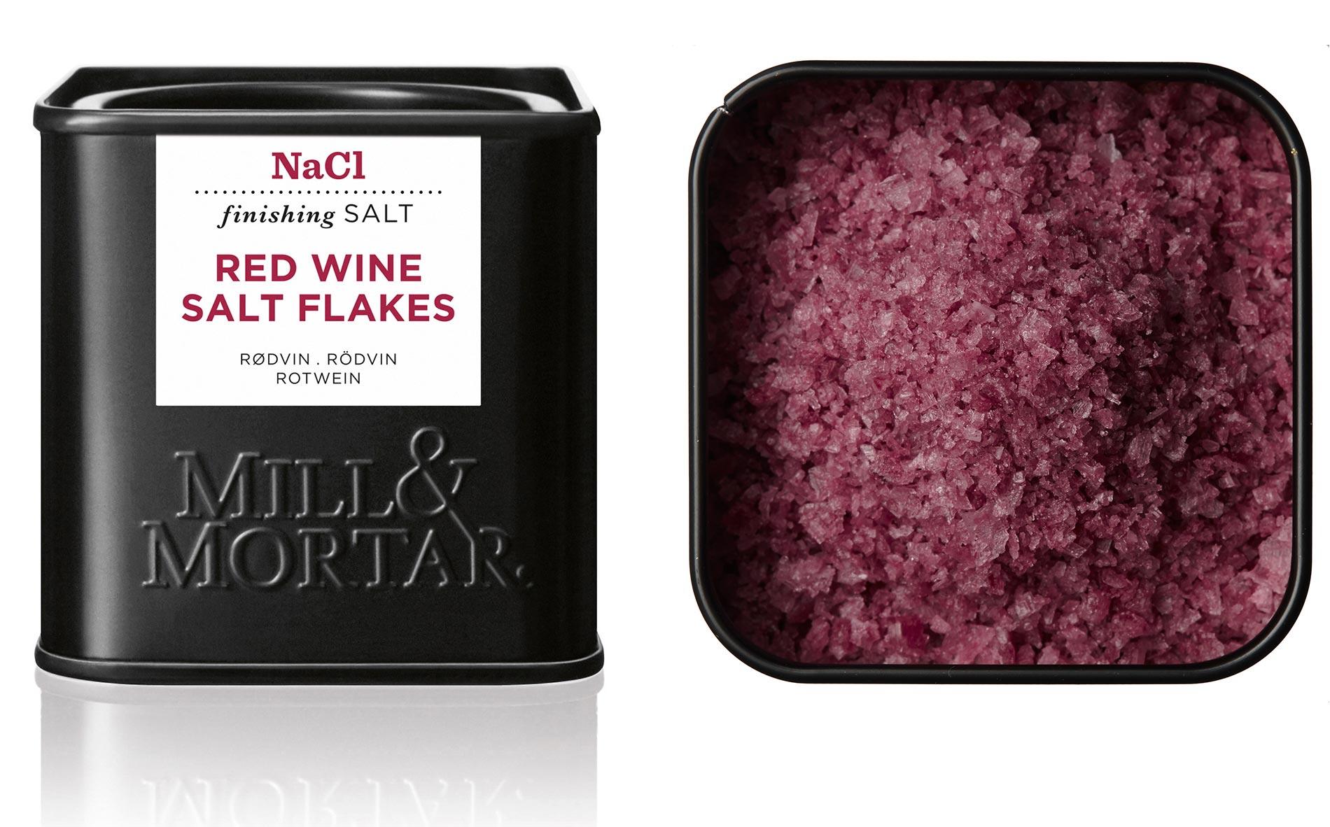 Gourmetsalt med rødvin fra Mill & Mortar