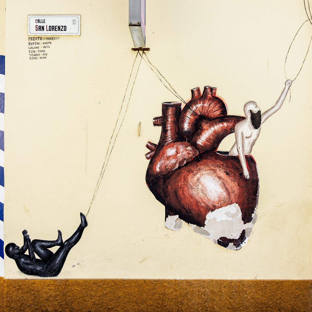 Et af den spanske gadekunstner Dadi Dreucols værker i Málaga.