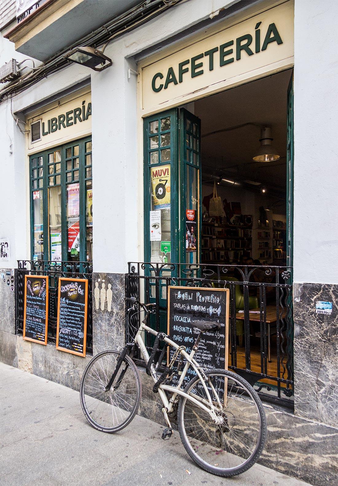 Ubik Café i Ruzafa i Valencia.